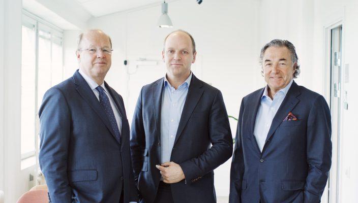 Fr. v. Anders Nyren (Aktieägare och styrelsemedlem), Philip Siberg (VD och medgrundare), Larry Leksell (Aktieägare)